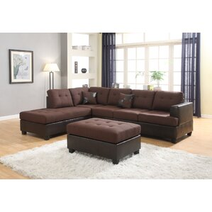 Ellus Reversible Modular Sectional by Roundhill Furniture