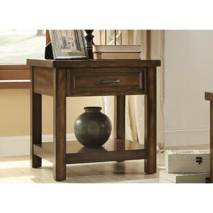Daenerys Wooden End Table with Storage