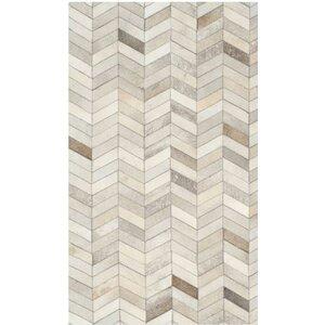 Cara Hand-Woven Gray/Ivory Area Rug