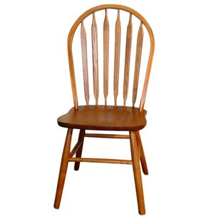 Braydon Classic Arrowback Solid Wood Dining Chair (Set of 2) Loon Peak