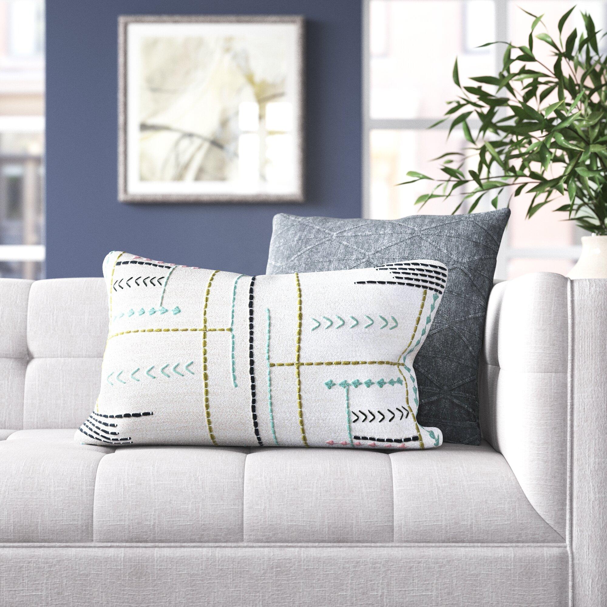 Monserrat Cotton Lumbar Pillow Cover Insert Reviews Joss Main
