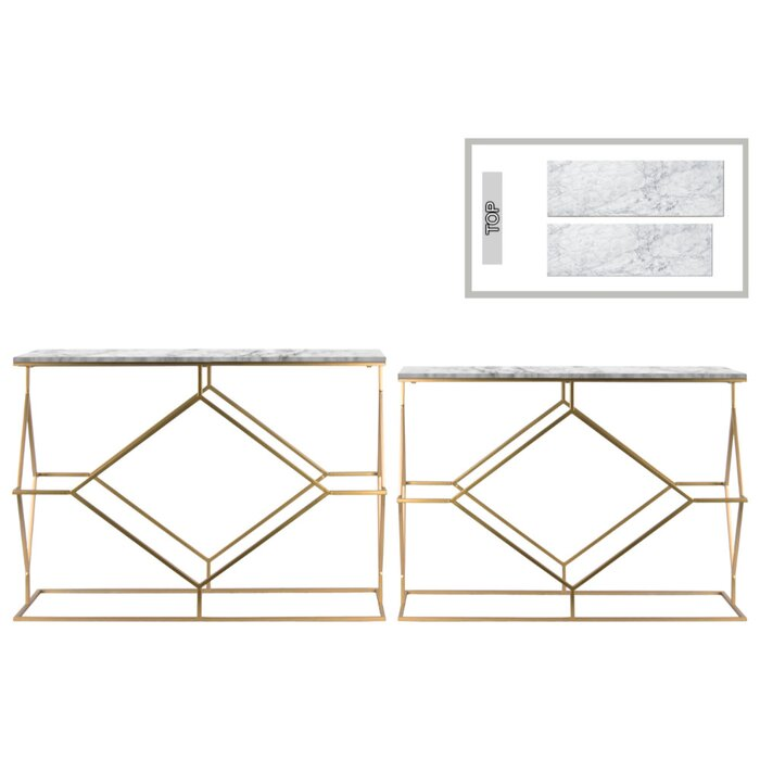 Brayden Studio Height Contemporary 2 Piece Console Table Set with ...