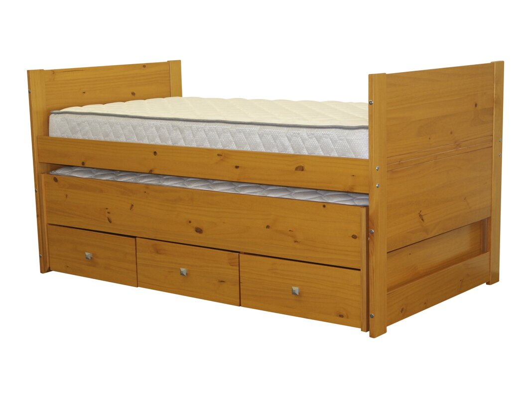default_name - Bedz King Twin Captain Bed With Trundle And Storage & Reviews