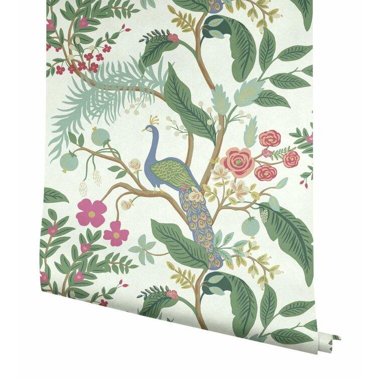 "Peacock 27' x 27"" Wallpaper Roll"