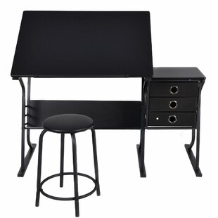 LaGuardia Adjustable Drafting Table and Chair Set