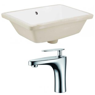 Shopping for Ceramic Rectangular Undermount Bathroom Sink with Faucet and Overflow ByAmerican Imaginations