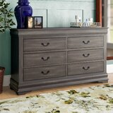 Trafford 6 Drawer Double Dresser by Charlton Home®