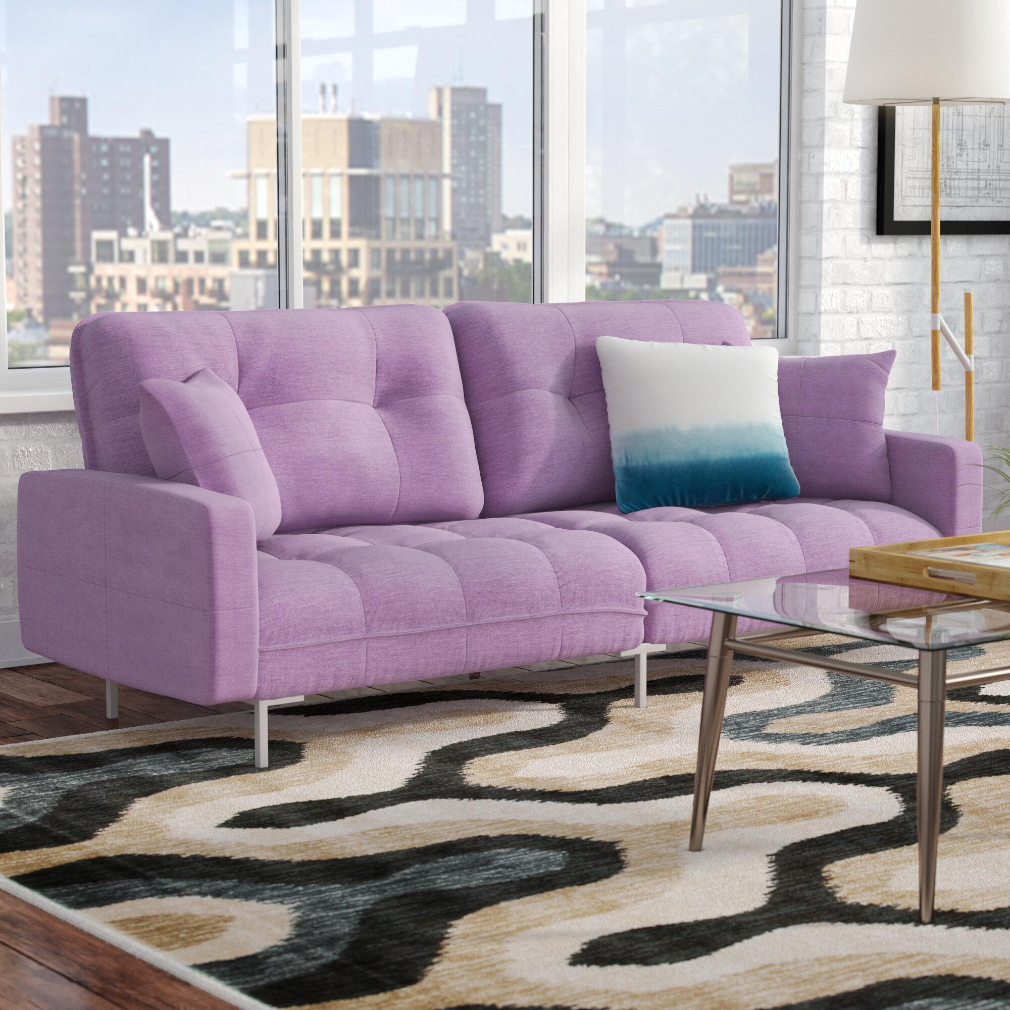 Zipcode Design Frederick Modern Plush Tufted Convertible Sofa Reviews Wayfair