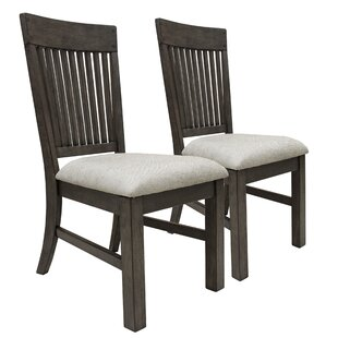 Lemen Farmhouse Style Upholstered Dining Chair Set Of 2