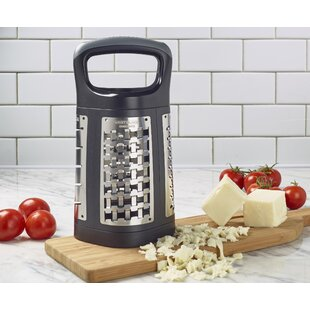 West Blade 4-Sided Stainless Steel Box Grater with Patented Grating Technology