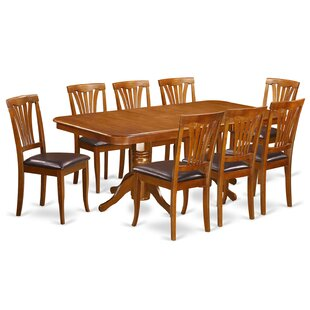 Pillsbury 9 Piece Dining Set with Double Pedestal Table Legs