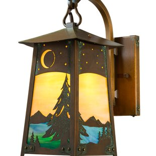 Great Price Devaughn 1-Light Outdoor Wall Lantern By August Grove
