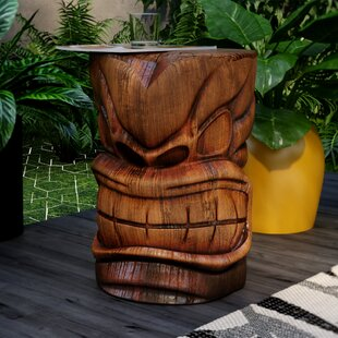 Elwanda Grand Tiki Sculptural Side Table
