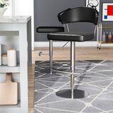 Kerry Swivel Adjustable Height Bar Stool by Wade Logan®