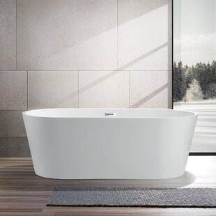 59 X 29 5 Freestanding Soaking Bathtub