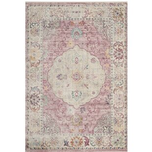 Check Prices Soren Rose/Cream Area Rug By Bungalow Rose