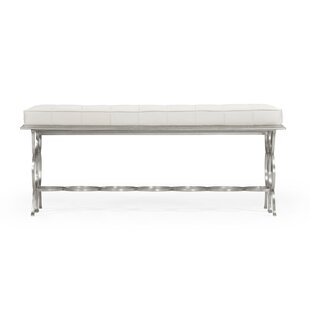 Rectangular Leather Bench by Jonathan Charles Fine Furniture Read Reviews