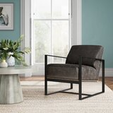 Brindley 31.88 W Top Grain Leather Armchair by Joss & Main