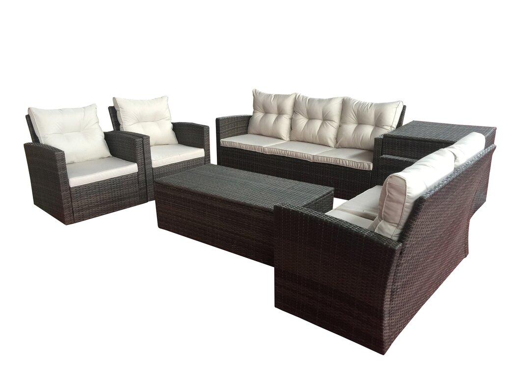 Carlene 6 Piece Sofa Set with Cushions
