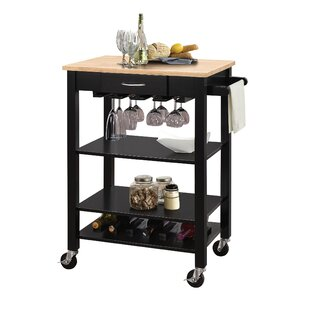 Langley Kitchen Cart with MDF Top Rebrilliant