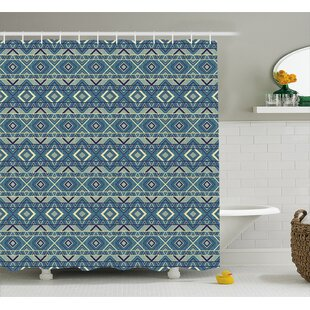 Angelena Ethnic Chevron Effects Single Shower Curtain