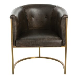Calvin Genuine Leather Upholstered Dining Chair by ARTERIORS Home