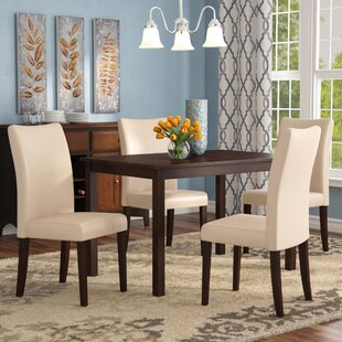 Evendale 5 Piece Solid Wood Dining Set Red Barrel Studio