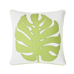 Gentil Palm Court Giant Ginko Decorative Cotton Throw Pillow