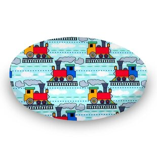 Read Reviews Kiddie Trains Fitted Crib Sheet BySheetworld