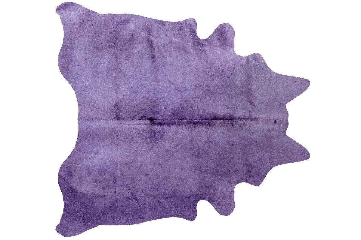 Plainsboro Handmade Purple Cowhide Area Rug