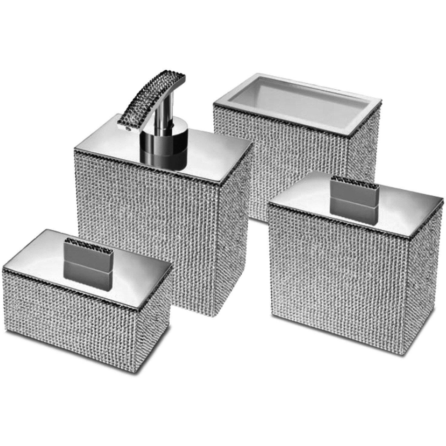 Rosdorf Park Patrice Square 4 Piece Bathroom Accessories Set Wayfair