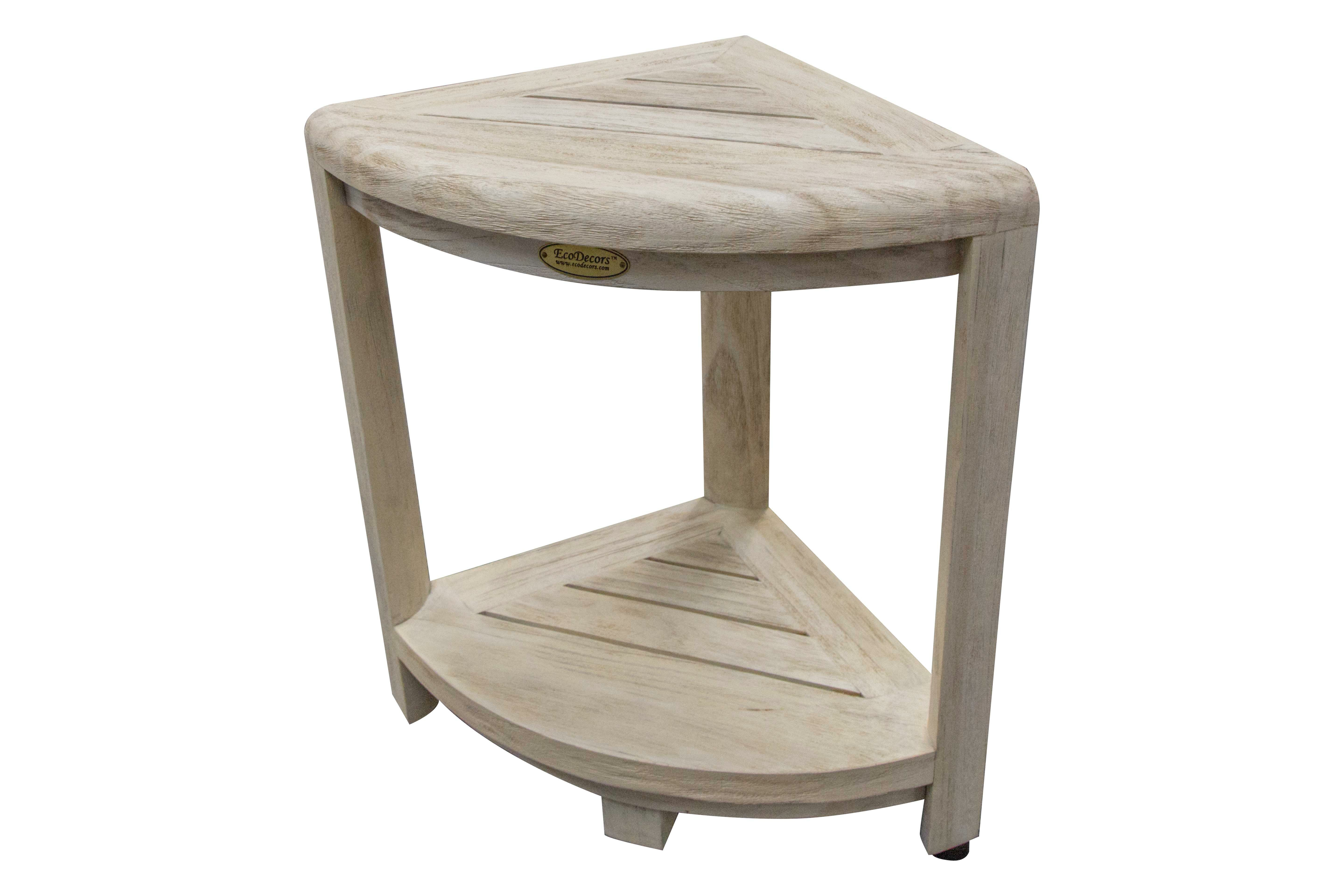 Bath Shower Stools Benches Tools Home Improvement Shower Seat Doubles As A Corner Shower Stool Wood Style Bathroom Bench Bathroom Stool With Storage Shelf Shower Bench Waterproof Small Shower
