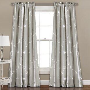 Mendon Fl Room Darkening Thermal Rod Pocket Curtain Panels Set Of 2
