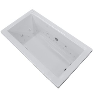 Guadalupe Dream Suite 59.74 inch  x 41.5 inch  Rectangular Air & Whirlpool Jetted Bathtub