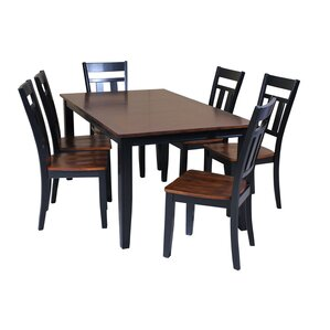 Haan 7 Piece Dining Set with Rectangular ..