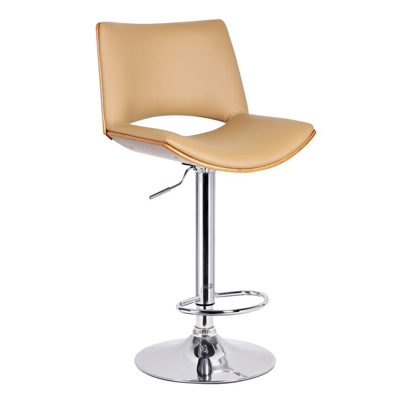 Adjustable Height Swivel Bar Stool  sc 1 st  Wayfair & Porthos Home Adjustable Height Swivel Bar Stool u0026 Reviews | Wayfair islam-shia.org