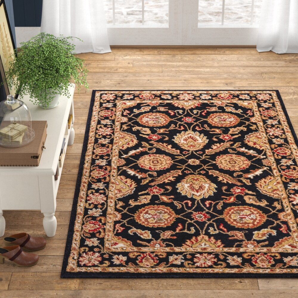 Wetheral Oriental Hand Tufted Wool Red Black Area Rug Reviews Birch Lane