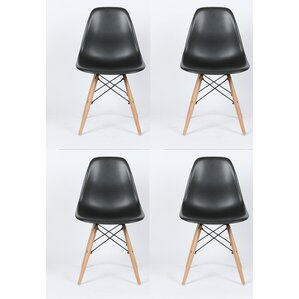 Dejohn Solid Wood Dining Chair (Set Of 4)