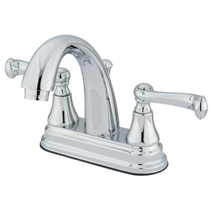 English Vintage Centerset Bathroom Faucet with Brass Pop-Up Drain