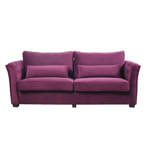 Alameda Traditional Velvet Fabric Sofa by Ev..