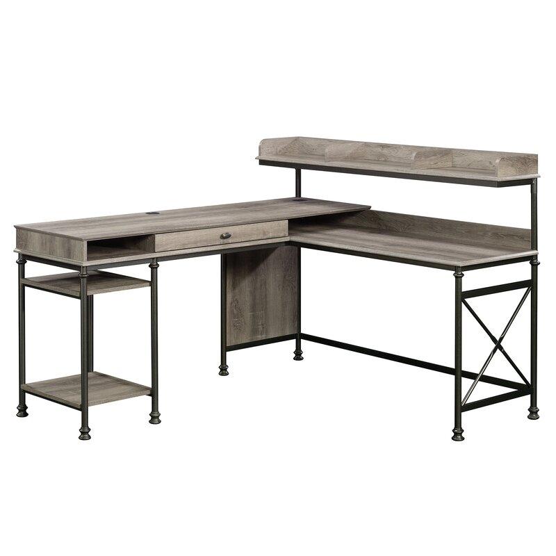 Oakside L Shape Executive Desk With Hutch