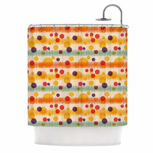 'Bubble Stripes Fun' Single Shower Curtain