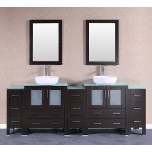 Royal 96 Double Bathroom Vanity Set with Mirror by Bosconi