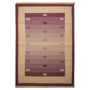 Bucyrus Handmade Kilim Purple Rug by Longweave