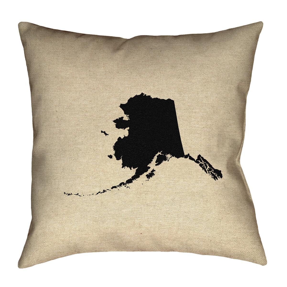 Ivy Bronx Austrinus Alaska Canvas In Spun Polyester Throw Pillow Wayfair
