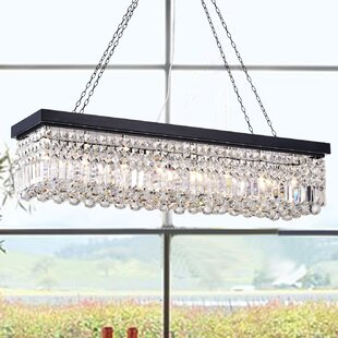 Rectangular crystal chandelier wayfair save to idea board mozeypictures Images