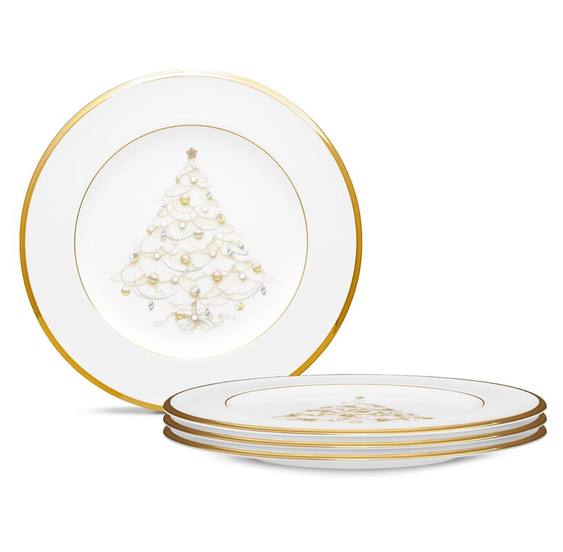 Palace Christmas Gold 8.5\  Holiday Accent Plates  sc 1 st  Wayfair & Noritake Palace Christmas Gold 8.5\