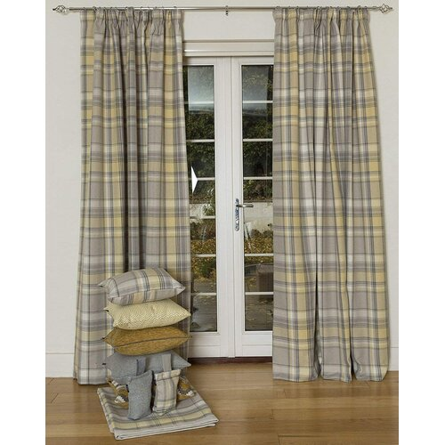 Millville Heritage Tailored Eyelet Blackout Thermal Curtains August Grove Panel Size: 228 W x 182 D cm