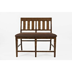 Winn Upholstered Wood Bench by Loon Peak