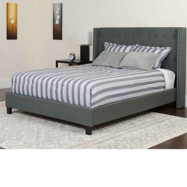 Alcott Hill Konieczny Tufted Upholstered Platform Bed With Mattress Amp Reviews Wayfair